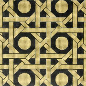 6329 Tan & Black Geometric