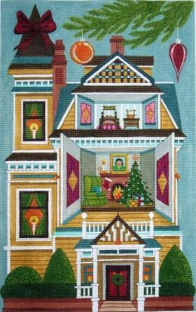 6610 Christmas Doll House