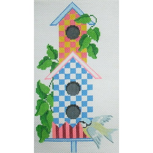 6672 Birdhouse Blue-Yellow