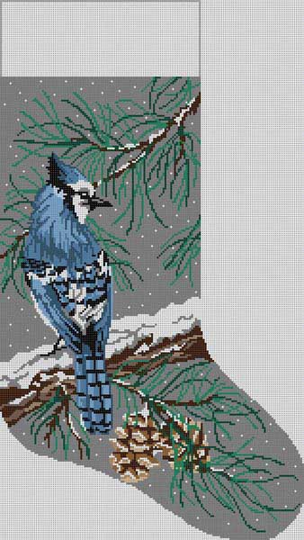 7171 Blue Jay Stocking