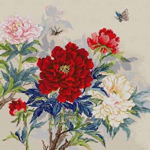 7288 Peonies & Butterfly