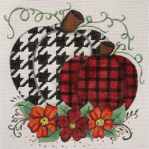 7416 Houndstooth and Plaid Pumpkins