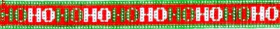 4741 HoHoHo - Needlepoint Belt