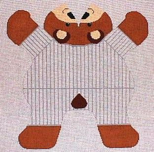 4452 Baseball Bear, Bean Bag
