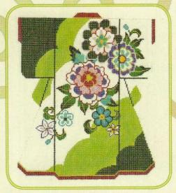 5724 Floral on Green